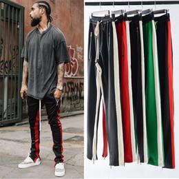Wholesale club organic - Designer Men Pants High Street Fashion Hip Hop Spring Autumn Party Club Trousers Jogging S-XXL 4 Colors Black Red Green Striped