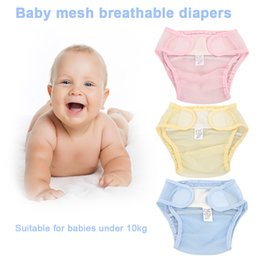 Wholesale toddler cloth nappies - Baby diaper Infants diaper Underwear Solid cloth Reusable Newborn Nappies Briefs Kids Toddler cloth diapers baby