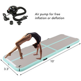 Wholesale inflatable for beach - Inflatable Air Gym Track Tumbling Mat Gymnastics Tumbling Mat Air Floor for Home Use, Beach, Park and Water