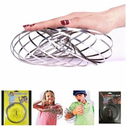 Wholesale Ring Toys - Intelligent Flow Ring Outdoor Amazing Toroflux Flowtoys Flowrings Funny Outdoor Inductive Toy Children Sport Toys 100pcs OOA4648