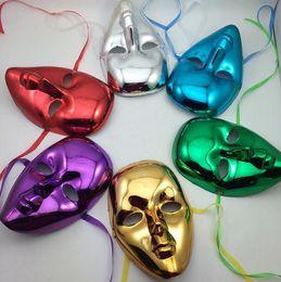 Wholesale Masquerade Ball Props - Sexy women full face mask Masquerade Ball Halloween Carnival Venice Plating masks Halloween masquerade performance show props