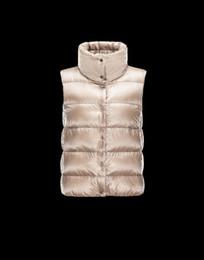 Marca de lujo chaleco de las mujeres de alto soporte collar botón solo pecho sin mangas cálido Puffer pato edredón chaleco femenino desde fabricantes
