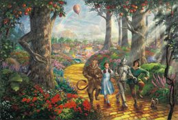 Wholesale oil painting framed landscape yellow - Follow the YELLOW BRICK ROAD Thomas Kinkade HD Canvas Print Living Room Bedroom Wall Pictures Art Painting Home Decoration No Frame