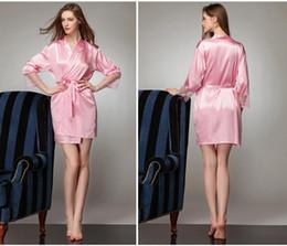 9d4779595d Long Sleeves Cheap Bridesmaid And Bride Robes Silk Bathrobe Wedding Party  Robe Kimono Silk Satin Robes For Bridesmaid Silk Wedding Robe