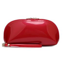 Goldschalenkupplung online-Luxus Brieftaschen Neue Mode Candy Farbe Handtasche Frauen Brieftasche Lackleder Preppy Schöne Münze Handtasche Shell Pursse