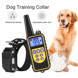 Wholesale medium dog collars - 800~1000m Remote Control 880 Barking Deterrents Tools Adjustable Dog Training Collars USB Rechargeable Waterproof Dog Pet Supplies