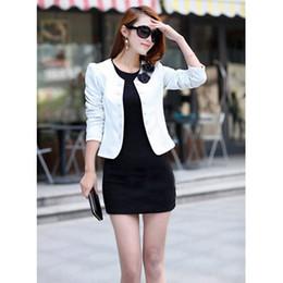 Wholesale white bow coat - 2018 Women's Jackets New Fashion Vouge Female Fashion Casual Slim Solid Color Suit Jacket Coat Outwear 4 Color Plus Size XS-XL