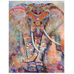 Wholesale Elephant Carpet - Indian Elephant Mandala Wall Sticker Ganesha Thailand Mural Art Vintage Retro Decorative Cloth Wall Carpet Home Decor Gift