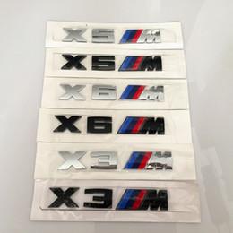 декаль Скидка 3D ABS черный серебряный X3M X5M X6M эмблема стайлинга автомобилей крыло багажник значок логотип наклейка для BMW