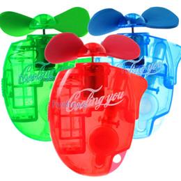 Ventilador de pulverização de névoa de água portátil on-line-Handheld Mini Portátil Elétrico Spray De Água De Refrigeração Da Névoa Ventilador 3 cores Esporte Praia de Viagem Ventiladores de Refrigeração C4524