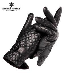 Guantes de cuero blanco hombres online-Nuevos guantes de otoño e invierno para hombres, cuero genuino, guantes de cuero para hombres, guantes de cuero para hombres, hombres de cuero blanco, envío gratis