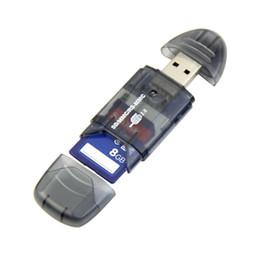 Adaptador portátil de memoria de alta velocidad del lector de tarjetas de memoria USB para tarjetas SDHC MMC Gadgets USB de alta calidad desde fabricantes
