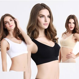 Wholesale One Piece Ladies Clothes - One-piece bra without rims yoga sports underwear running sleep ladies fitness vests Sexy cross strap wicking breathable clothes gathering fr