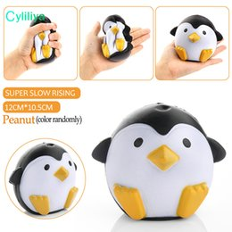 Wholesale Cell Phone Strap Bread - Squishy Penguin 11cm Slow Rising Toy Decompression Bread Relieve Stress Cake Sweet Animal Cell Phone Strap Phone Pendant Key Chain Toy Gift