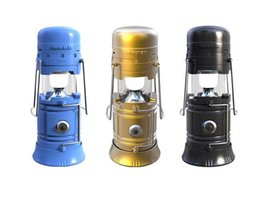 Wholesale mobile phone torch light - New Waterproof Bluetooth Speaker Power Bank FM Radio Bluetooth Speakers Multifunction Outdoor Speaker have Torch Camping light function