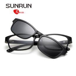 Wholesale Magnet Rectangle - SUNRUN Magnet Clip On Sunglasses Men Polarized Sun Glasses Brand Designer TR90 Frame Driving Glasses TR2216