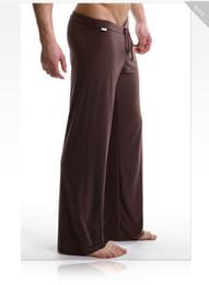 vestiti di novità oro Sconti Pantaloni casual allentati di seta uomini Pantaloni casual traspirante con coulisse Pantaloni da uomo pigiama SY001