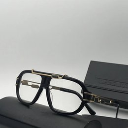 Wholesale Plastic Optical Lens - Luxury 8018 Glasses For Men Brand Design MOD8018 Eyeglasses Gold Plated Vintage Retro Style Square Frame Optical Lens Top Quality With Case