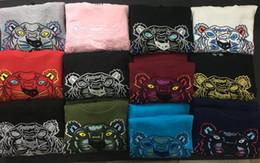 Novo frete grátis dos homens / mulheres bordados cabeça do tigre de algodão camisola jumper treino tracksuits Hoodies Moletons tamanho S-2XL 13 cores em de