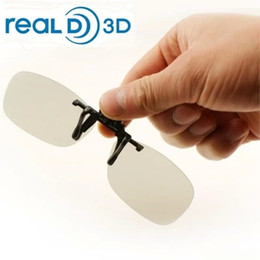 Wholesale People Clips - Clip-on 3D Glasses Polarized for nearsighted people watching passive 3D TVs and RealD cinema system
