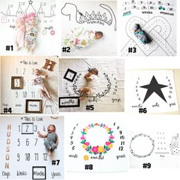 Wholesale Photography Background Fabric - Newborn baby photography background props baby photo fabric backdrops infant blankets wrap letter flower numbers print cloth 0601724