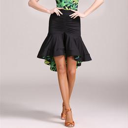 Argentina Falda de baile latino sexy irregular para mujer / bailarinas, vestimenta de salón vestimenta práctica Vestido 1847 cheap dancer costumes for women Suministro