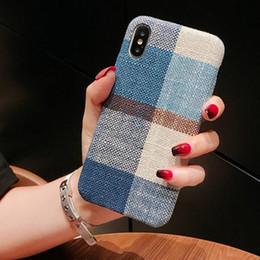 Korea modegewebe online-Stoff-Abdeckung Mode-Telefon-Kasten für iPhone 11 Pro max X XS Max XR 8 7 6 6s Plus-weiche TPU Abdeckung Shell-Schutz Rumpf Haut Korea Design GSZ494