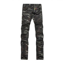 Wholesale Military Denim - New Collection Army Style camouflage Jeans Men's Cotton Straight Pants Long denim Trousers ZY012