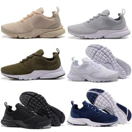 Wholesale Fly Leather - 2018 Free Shipping Discount Cheap Wholesale Presto Fly Running Shoes Women Men Mesh Boost Sports Shoes eur size 36-45