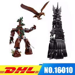 Wholesale Toy Lord Rings - DHL Fit For 10237 LEPIN 16010 2430Pcs Lord of the Rings The Tower of Orthanc Model Building Kits Set Blocks Bricks Toys Gift