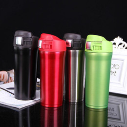 Cubierta termo online-Bouncing Cover Vacuum Cup Botellas de agua de acero inoxidable Thermos Car Conservación de calor Botella de boca ancha Kettle Pure Color 20xx ff
