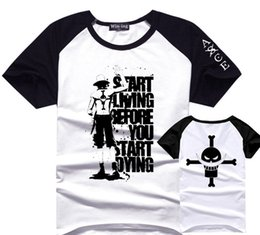 tshirt d Promo Codes - One Piece Portgas D Ace T Shirt Men Boy Cotton Tee Anime T-Shirts Tshirt
