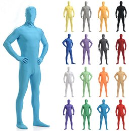 unisex bodysuit per adulti Sconti Costume adulto Taglie Unisex Lycra Spandex Bright 2nd Skin Costumi Zentai Body Body Unitard