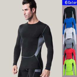Wholesale Panel Tights - designer tracksuit men 3 generation of men's PRO tight training exercise, exercise, stretch, speed dry long sleeved T-shirt T shirt 1029