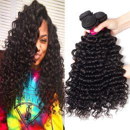 2019 reine amour vierge cheveux 9A Mink Brazillian Vague de Corps Droite Vague Lâche Kinky Bouclés Vague Profonde Non Transformés Brésiliens Péruviens Indiens Vierge Cheveux Humains Weave Bundles