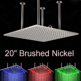 doppelregen duschköpfe Rabatt Groß-und Einzelhandel LED Farbwechsel 20