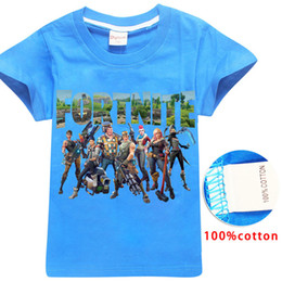 Wholesale animal clothes for kids - 4 Color Boys Girls fortnite t shirt 2018 New Children Game Cartoon cotton Short sleeve t shirt Baby kids clothing for 6~14years B001