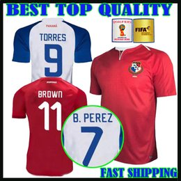 Wholesale Purple Nurse - world cup 2018 SQUAD OF PANAMA soccer jersey home away 18 19 PANama Roberto Nurse Aníbal Godoy Felipe Baloy BROWN Football shirts uniforms
