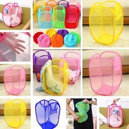 cesta de ropa al por mayor Rebajas Nueva B07 de alta calidad de gran tamaño sucia cesta de ropa Comercio al por mayor de color plegable cesta de almacenamiento de red sucia ropa cubo T7I376