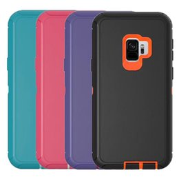 Wholesale Wholesale Defender Cases - For Samsung S9 Defender Case 3in1 High Impact Heavy Duty Hard Rugged Rubber Back Cover with Clip for Samsung Galaxy S9 S9plus
