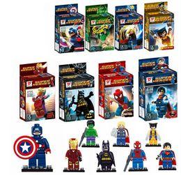 brinquedos do homem-aranha azul Desconto Superheroes building blocks assembled toys children educational toys SY180 Boys girls Toys & Gifts Action Figures hot sell