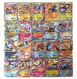 Wholesale Pc Kid Games - New Hot 100 Pcs Set EX Mega Shine English XY 80EX cards+ 20 Mega cards No repeat Kids Toys Card Games 180406