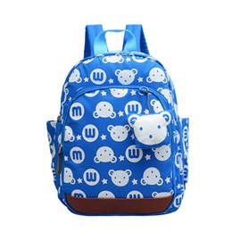 Wholesale Blue Toddler Backpack - Cartoon Antilost Children School Bags Toddler Harness Kindergarten Baby Backpack Kids Bag Strap Walker Schoolbag Backpack