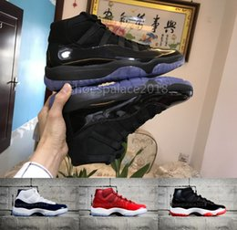 Wholesale Womens White Leather Sneakers - Cheap Basketball Shoes Blackout 11s Athletic Sport Shoes Mens Womens Designs Running Sneakers Midnight Navy Bred Concord Varsity Red