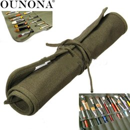 Wholesale Case Paint Brushes - OUNONA Art Painting Brush Roll-up Wrap Case Bag Holder Pencils Aritst Organizer Bag Pouch Organizer Home Accessories