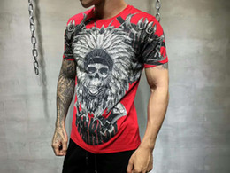 Wholesale funny tshirts men - My Brand Tiger Sport Men's Summer Funny Printed Short Sleeve T-Shirts Hip Hop Men's Casual Cotton Tops Tees Male Fashion Streetwear Tshirts