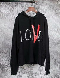 Wholesale friends hoodies - New Style Classic Chinese dragon VLONE FRIENDS Big V Letter Printed Women Men hoodies Pullover Hip hop Skateboard Brand Cotton Sweatshirts