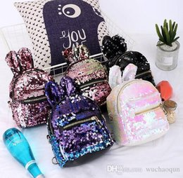 2019 saco de escola coreano de couro Ins Moda Coreano novas crianças mochilas lantejoulas Sacos de crianças mini Crianças Sacos De Escola Meninas Sacos De Couro Saco De Fim De Semana saco rosa saco de escola coreano de couro barato