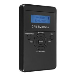 Wholesale Frequency Receiver - LEORY Portable Mini DAB Frequency Modulation Bands Radios Digital LED Display FM Radio Receiver Signal Processing With Earphone