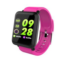 Schermi bagno online-M28 intelligente orologio grande schermo frequenza cardiaca pressione sanguigna ossigeno multi sport moda bagno fitness tracker smartwatch per Android IOS